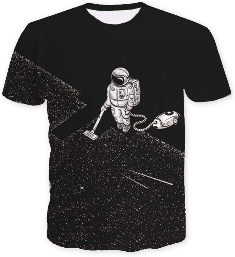 ISAAC ENGLAND Space Astronaut Clean T-Shirts 3D Casual Uomo Galaxy Magliette Casual Uomo Streetwear Harajuku Plus Size Sportswear