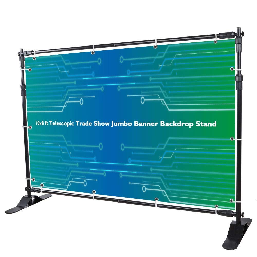 10x8 ft Telescopic Trade Show Jumbo Banner Backdrop Stand
