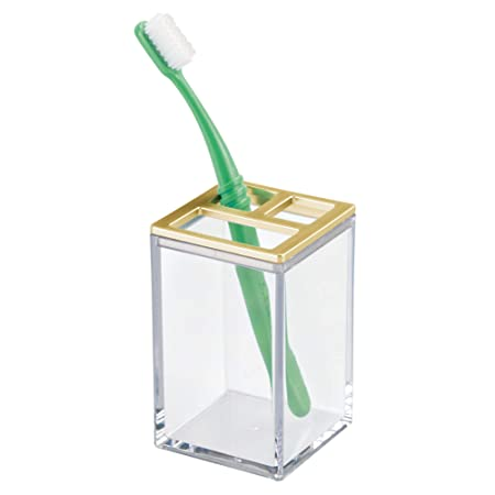 InterDesign - Clarity - Porta cepillos de Dientes, para tocador ...