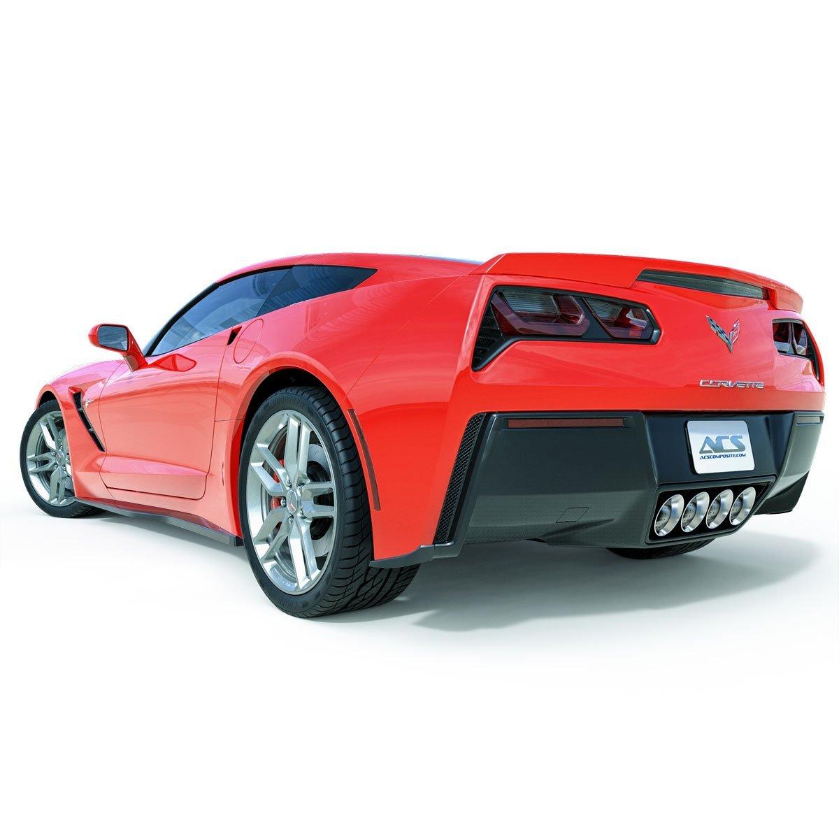 ACS Composite C7 Corvette Rear Fascia Extensions Made via Plastic Injection ABS PC Stingray
