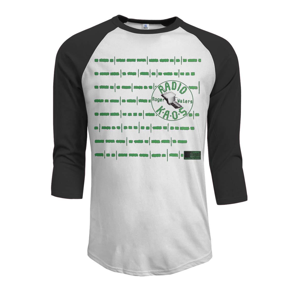Macwe Roger Waters Radio Kaos Men S 3 4 Sleeve Baseball Black Shirts