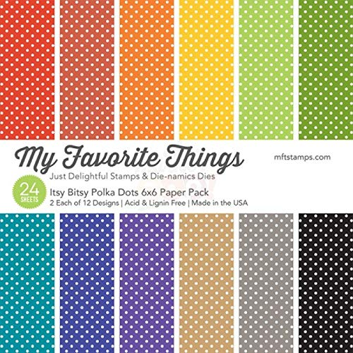 My Favorite Things Paper Pack - Itsy Bitsy Polka Dots 6 x 6