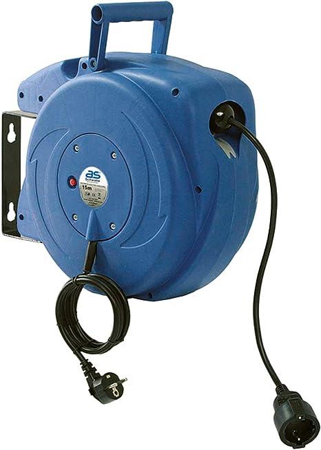 As Schwabe Automatischer Kabelaufroller Für Den Innenbereich 15 M Kupplungsleitung 1 5 M Steckerzuleitung 230 V 16 A Robuste Kabeltrommel Mit Aufrollautomatik Ip20 Blau I 12611 Baumarkt