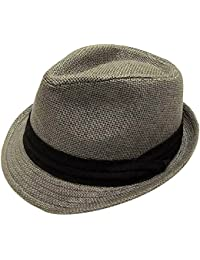 ff913a6b8bd Unisex Summer Cool Woven Straw Fedora Hat   Stylish Hat Band