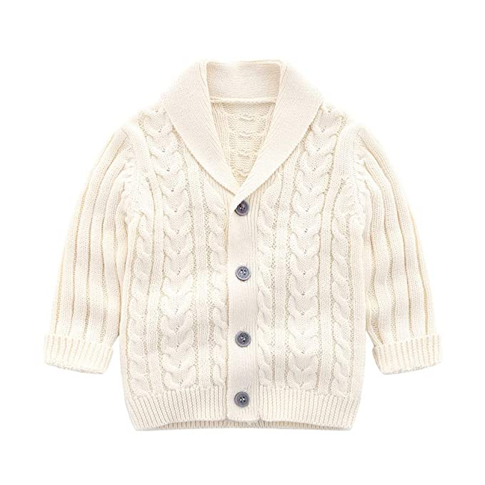 52c7ad327 Amazon.com  Ding-dong Baby Kid Boy Knitted Button Cardigan  Clothing