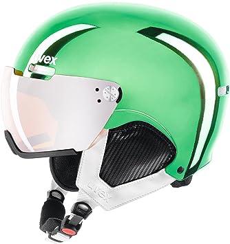Uvex hlmt 500 Visor Chrome LTD Esquiar, Snowboard Negro, Verde, Blanco - Cascos