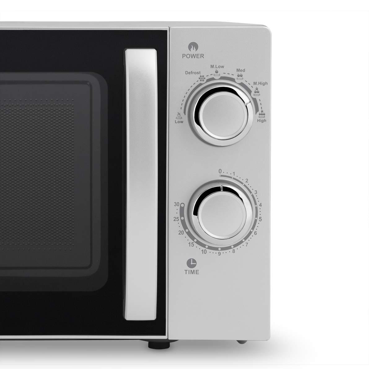 Orbegozo MI 2018 - Microondas sin grill (700 W de potencia, 20 L, 6 niveles de funcionamiento), color gris