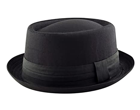 Adult Pork Pie Trilby Fedora 100% Cotton Hat Band Unisex (Breaking Bad  Heisenberg Style caa57f945e2