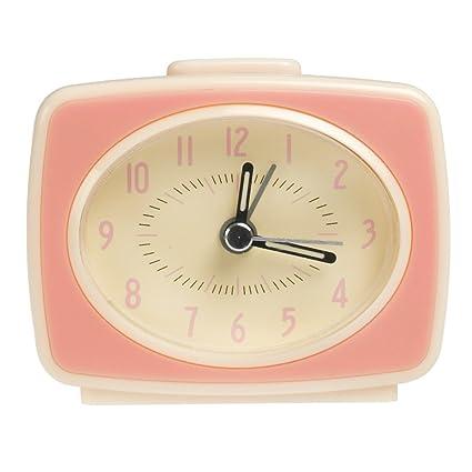7e2bc90f60ce45 dotcomgiftshop Retro Tv Style Alarm Clock - Choice Of Colour (Pink ...