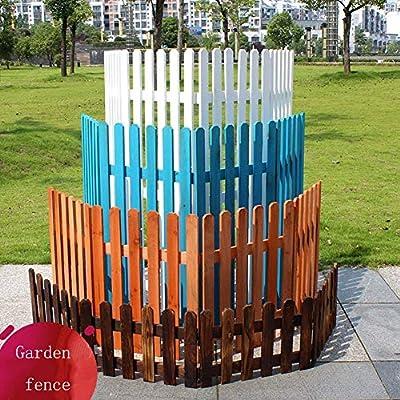 YINUO Cercos Valla GZHENH Jardín Jardín Publica anticorrosivo Duradero Jardín Barrera Estable pequeño Volumen de Madera Maciza al Aire Libre, 4 Colores, 4 tamaños (Color : A, Size : 45x90cm): Amazon.es: Hogar