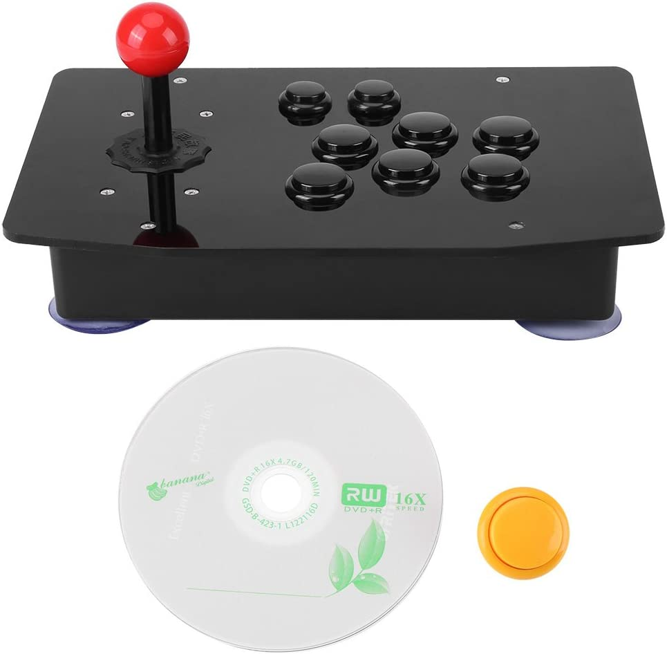 Hilitand Arcade Controller with 360-degree Rotating Handle, USB Game Joystick and Button DIY kit, Support Windows / PS3 / Android, ACR Platform