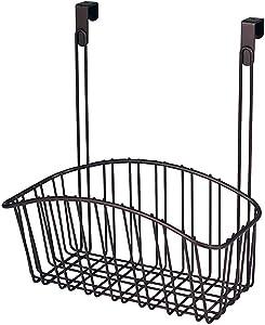 Spectrum Diversified Contempo Storage Basket, Over the Cabinet, Steel Wire Organization, Under Sink Organizer for Kitchen & Bathroom, Medium