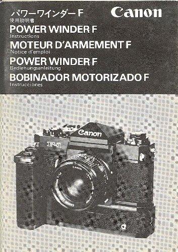 Canon Power Winder F ORIGINAL Instruction ()