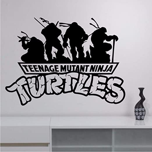 LLLYZZ Tortugas ninja vinilo tatuajes de pared de dibujos animados ...