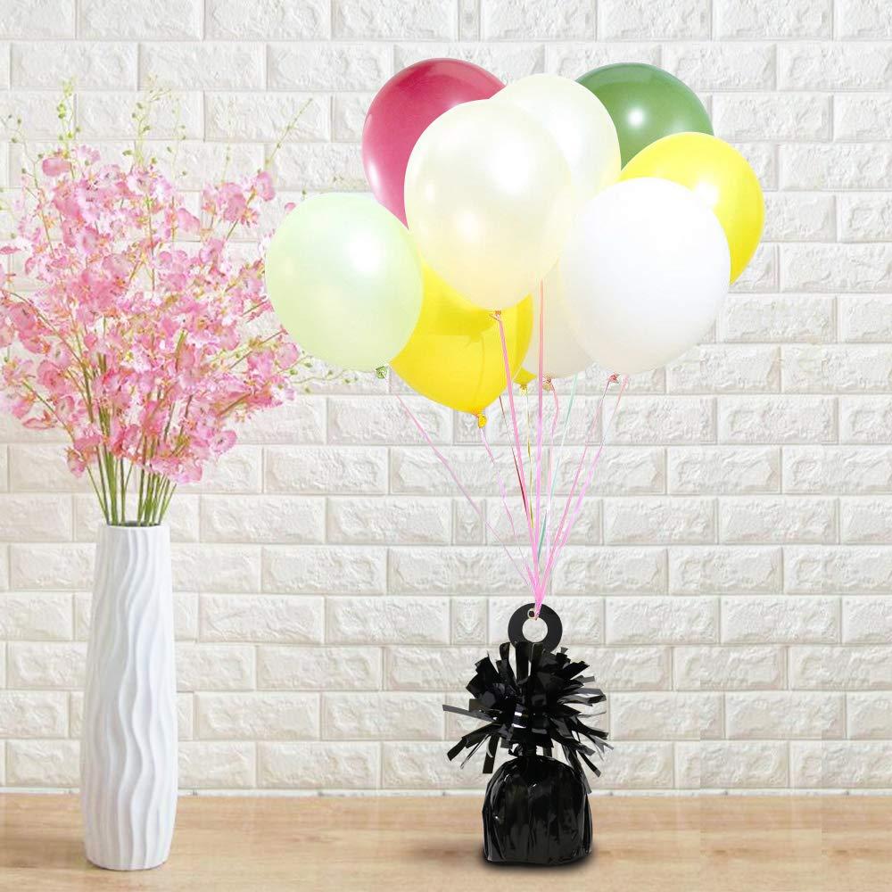 6 St/ücke Folie Helium Latex Ballon Gewichte Ideal Party Dekoration Zubeh/ör Weight-Baby Blau