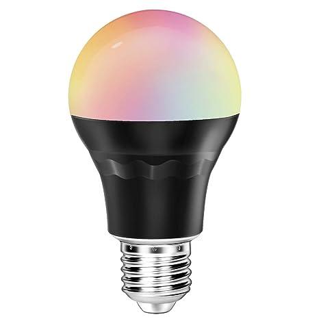 topoo Smart bombilla LED, Bluetooth APP Smartphone Controlado, intensidad regulable luz de noche,