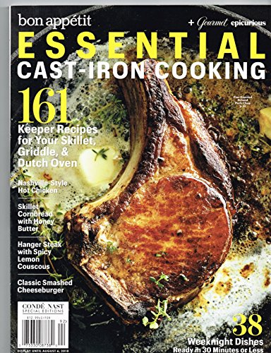 Bon Appetit Magazine - Essential Cast- Iron Cooking A Conde Nast Special Edition August 2018 Magazine