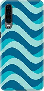 Stylizedd Huawei P30, Slim Snap Basic Case Cover Matte Finish - Curvy Blue