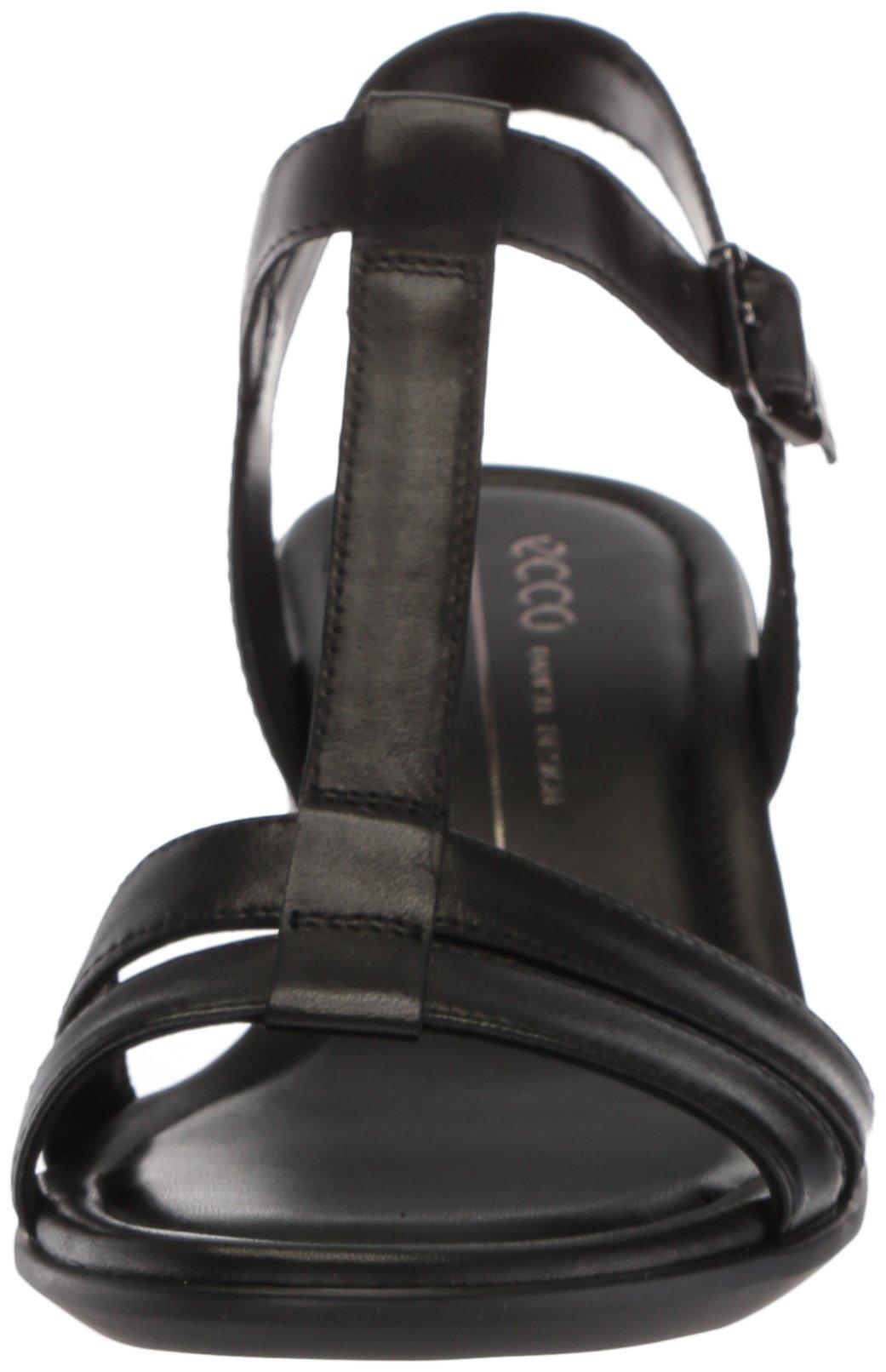 ECCO Women's Women's Shape 35 T-Strap Wedge Sandal, Black/Black, 37 M EU (6-6.5 US) by ECCO (Image #4)