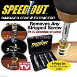 Speed Out 4pc Damaged Screw Extractor Use With Any Drill SpeedOut
