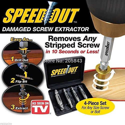 Speed Out 4pc Damaged Screw Extractor Use With Any Drill As Seen On TV SpeedOut #from-by#_ajaysirohi67 it#10251237394250