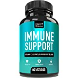 Immune Support - Immunity Boost Supplement with Elderberry, Vitamin C, Echinacea and Zinc - Once Daily Immune System Booster