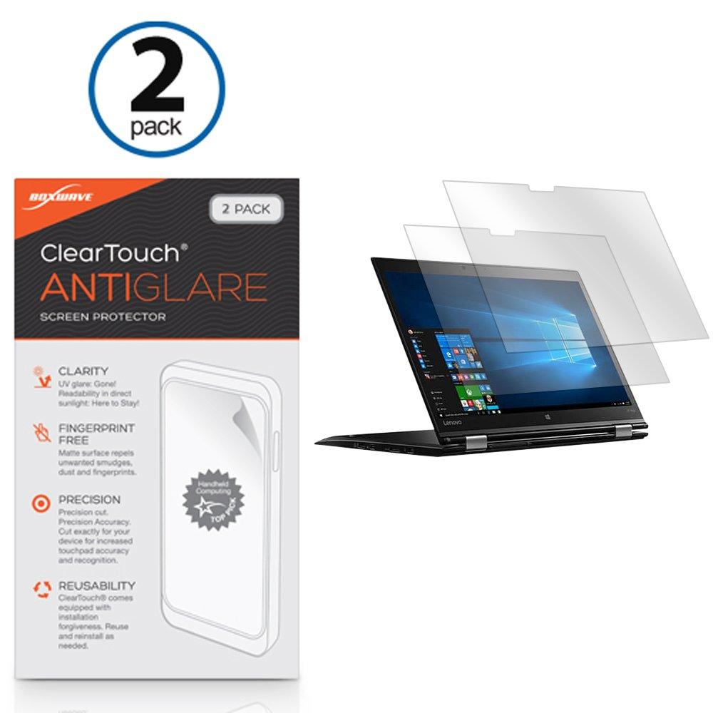 BoxWave Lenovo Thinkpad X1 Yoga Screen Protector, [ClearTouch Anti-Glare (2-Pack)] Anti-Fingerprint Matte Film Skin for Lenovo Thinkpad X1 Yoga