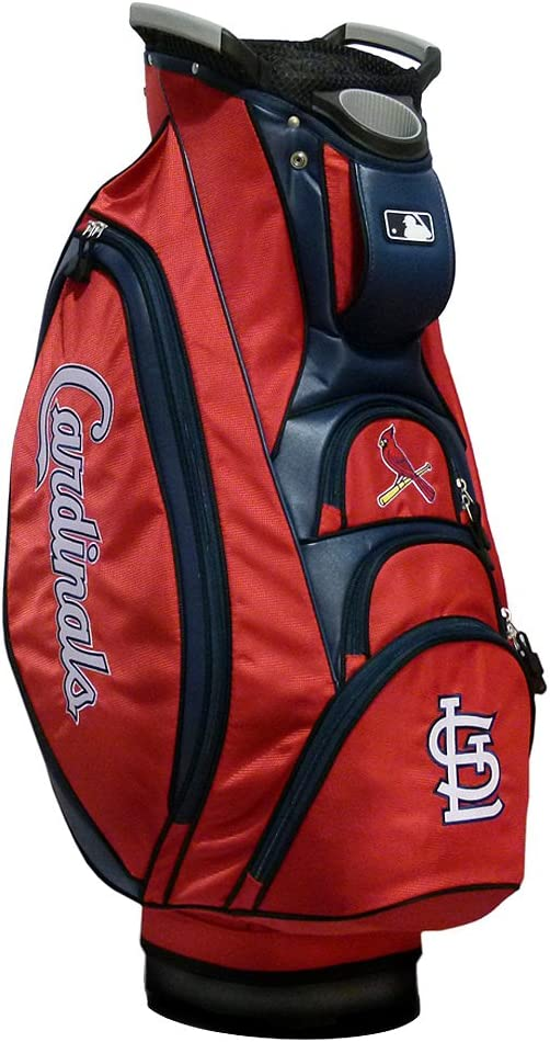 Team Golf MLB St Louis Cardinals Victory Golf Cart Bag, 10-way Top with Integrated Dual Handle & External Putter Well, Cooler Pocket, Padded Strap, Umbrella Holder & Removable Rain Hood : Sports & Outdoors