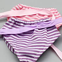 Hemore Dolls Underwear, Fits 18 Inch American Girl Dolls Doll Accessories Gift Purple Health Baby Care