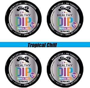 TeaZa Energy 4 Tropical Chill Mix with Relora- Individual Hot/Cold Brew Tea Curb Cravings for Snacks or Tobacco Products, Calming Formula
