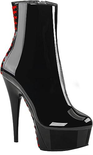 Higher Heels PleaserUSA Damen Plateau Stiefeletten mit