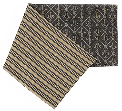 Caffco International Biltmore Inspirations Collection Reversible Table Runner, Fleur De - Outlets In Asheville