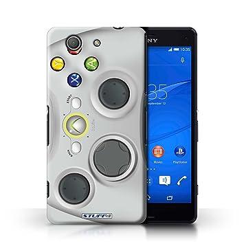 Carcasa/Funda STUFF4 dura para el Sony Xperia Z3 Compact / serie: Consola de juegos - Xbox 360 blanco