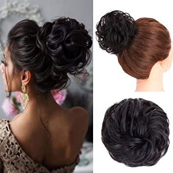 AISI BEAUTY 100% Human Hair Bun Extension
