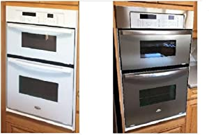 """Dishwasher/Refrigerator SATIN Stainless Steel Faux Film 36"""" x 120"""" compliments your current appliances. (Frigidaire Kenmore LG Whirlpool Kitchen Aid and more.) Do mismatched appliances drive you NUTS?"""