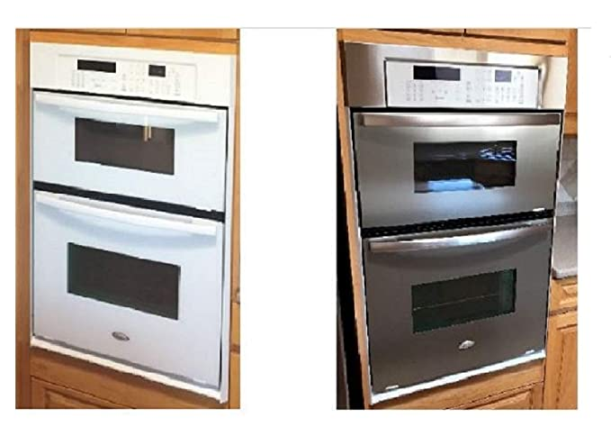 Dishwasher/Refrigerator SATIN Stainless Steel Faux Film compliments your  current appliances. (Frigidaire Kenmore LG Whirlpool Kitchen Aid and more.)  ...