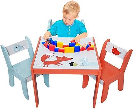Amazon.com: Labebe juego de mesa, silla de actividad de ...