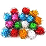 ALL in ONE Assorted Color Glitter Sparkle Pom Poms for Craft DIY (45MM)
