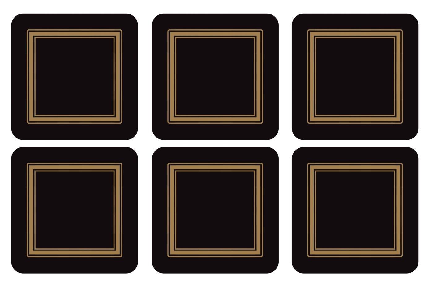 Classic Black Pimpernel Boite 6 Dessous de Verre Carr/é