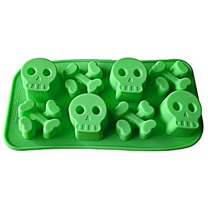 Calavera con forma de molde de silicona para Chocolate, Gelatina Y Candy etc. –