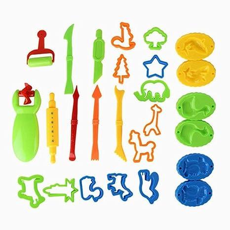 Xiton DDGÂ EDMMS DIY Barro Set cortadores de Arcilla plastilina Molde Masa moldes para niños (