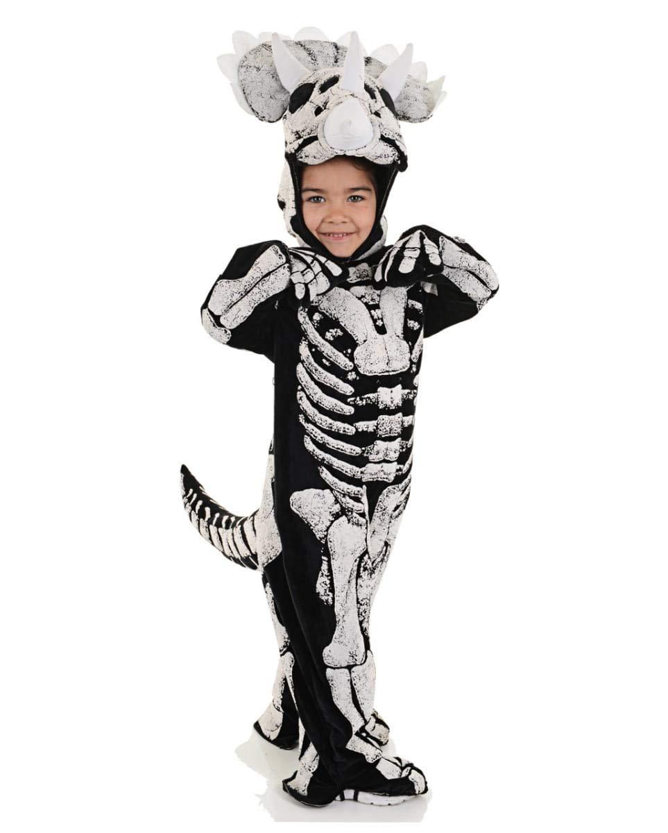 Horror-Shop Disfraz de bebé Esqueleto de Dinosaurio de Tres Cuernos M