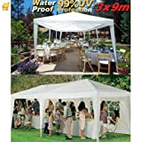 STRONG CAMEL Wedding Party Tent 10×30 White Gazebo Canopy BBQ Easy Set Pavilion Cater Events, Outdoor Stuffs