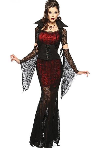 Fortuning's JDS Sexy de Halloween sangriento Novia del vampiro de la bruja  de la araña del ac3247841c41
