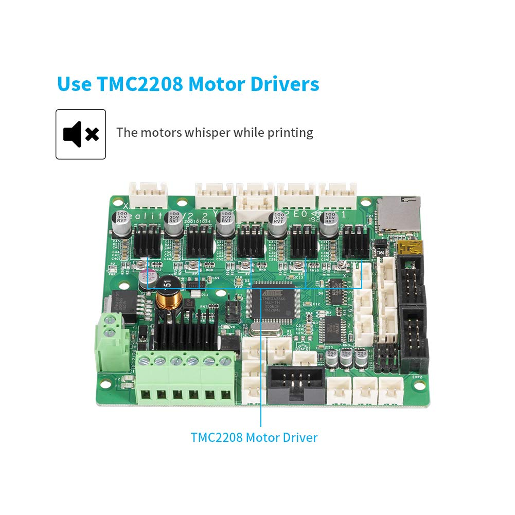 Creality 3D Ender 5 Plus Silent Mainboard with TMC2208 Driver Not Standard Matching Customized Super Quiet Mute Motherboard