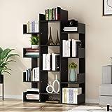 Tribesigns 12-Shelf Bookcase, Modern Tree Bookshelf Book Rack Display Shelf Storage Organizer for CDs, Records, Books, Home O