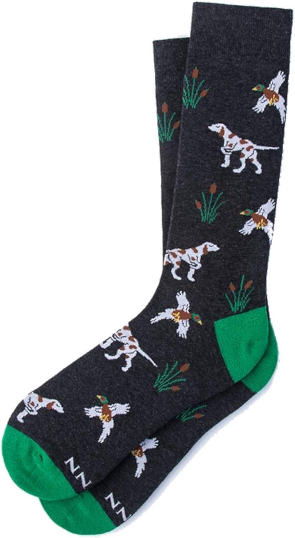 Pointer Gundog Mens Socks Green Background White and Tan Dog Ideal Shooting Gift