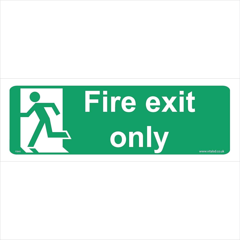 Seguridad contra incendios señal FS042 Fire Exit sólo - señal de ...