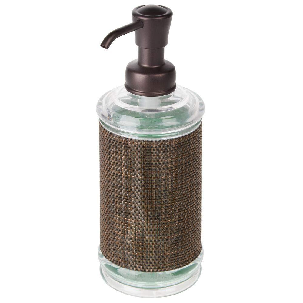 mDesign Dispensador de jabón líquido recargable para baño o cocina - Dosificador para jabón de plástico grande con capacidad de 355 ml - Accesorios para ...