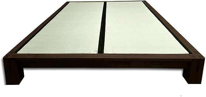 Futon On Line Cama Tokio Tatami, Wengué, 200x180x20 cm ...